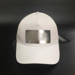 白の100%年の綿のあや織りのチノは帽子をと浮彫りにするロゴのトラック運転手の野球5panelsをキャップする