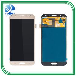 Samsung J7 LCDスクリーンのための携帯電話LCD黒くまたは白またはGlodカラー表示