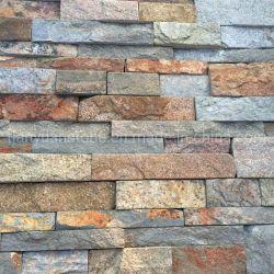 壁被覆および屋根材のための錆色の黄色の文化の石のスレート