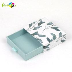 O logotipo personalizado exclusivo de luxo Bracelete Colar brincos cordões de ajuste do anel de Gaveta de embalagem jóias de embalagens de papel caixa de jóias com inserto