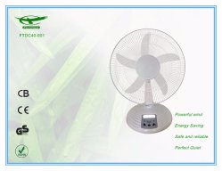 Voyant LED DC Table de peuplement dsk Ventilateur solaire pour la maison avec adaptateur (FTDC40-001)