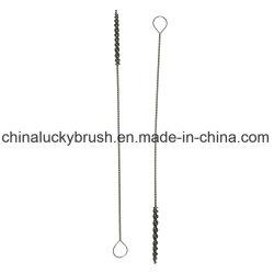 Hilo de nylon cepillo de tubo de acero inoxidable con el anillo (AA-753)