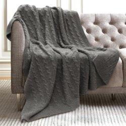 Everlasting Comfort Luxury Fausse Fourrure Blanket - Ultra-douce et moelleuse - Jeter des couvertures en peluche pour la table lit et salle de séjour, Recyclé Knitting Blanket