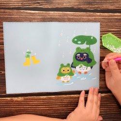 DIY brinquedos educativos Diamond PU livros para crianças