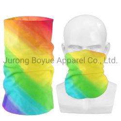 Unisex de promoción exterior impresos personalizados Magic TIE DYE de poliéster sin costuras enfriar el tubo de cuello Bufanda de la cara de máscara de Bandana
