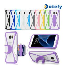 帯出登録者の立場のユニバーサル携帯電話のための柔らかいシリコーンTPUの豊富な箱カバー