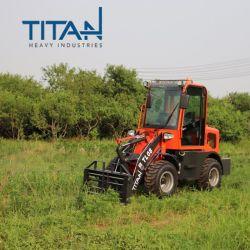중국 산업 타이탄 소형 0.8톤 굴절식 접지 이동 유로 자동 미니 팜 트럭 휠 트랙터 프론트 엔드 로더 판매
