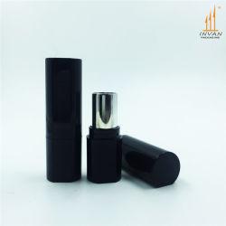 黒く豪華なプラスチック口紅の管の装飾的な容器のパッキング