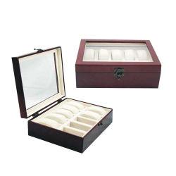 Regarder l'emballage en bois personnalisé de luxe boîte avec 10 emplacements (1509)