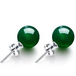 Moda Encanto Chalcedony Verde Natural jóias brincos