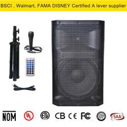 """15""""portable 300 Watts RMS haut-parleur actif de l'alimentation avec DSP, Bluetooth, logement pour carte SD, USB, MP3, XLR"""