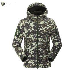 جاكيت خارجي جديد من قماش Fleece-Shell للرجال لتمويه الألعاب الرياضية التي تسمح بمرور الهواء والممتدة على الماء