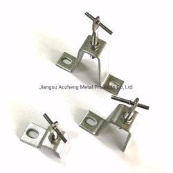 Il rivestimento su ordinazione della parete ancora le parentesi di pietra del rivestimento dell'acciaio inossidabile Z