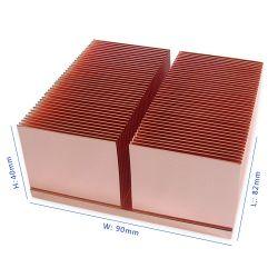 Le cuivre PV solaire/Station de dissipateur de chaleur du dissipateur de chaleur