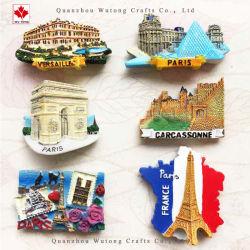 OEMの樹脂はフランスパリFridegeの磁石のツーリストの記念品のギフトを制作する