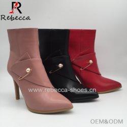 Dame de la cheville OEM Chaussons cuir artisanal femmes talons de chaussures à talon