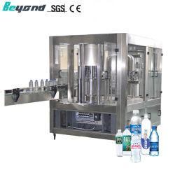 Agua mineral totalmente automática de lavado de botellas de PET de llenar la línea de producción de maquinaria de envasado tapado