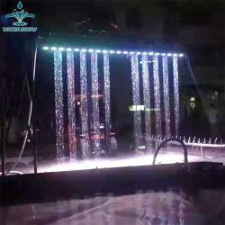 Interior em aço inoxidável atraente Fonte de cortina de água digital gráfica
