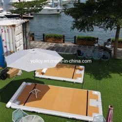 Yate de la plataforma flotante de agua inflable Embarcadero Pontoon