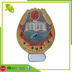 Logo personnalisé bon marché Fashion fleur Promotion Mou Dur Enamel Silver Flag or en laiton broche Médaille de la sécurité insigne métallique Épinglette pour cadeau promotionnel (pas de mini (124)