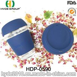 Легкий 12oz K чашки напитки воды из стекла с тепловой силиконовый стопор оболочки троса (ПВР-0590)