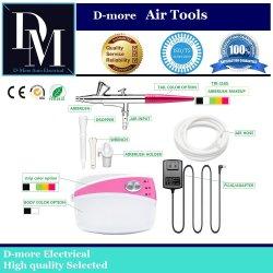 Professional Aerógrafo maquillaje Kits para uñas bronceado Tatttoo compresor Dm-216S