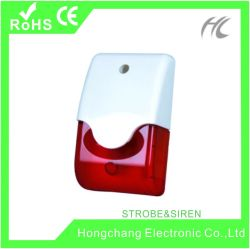 Sirene de strobe interior 12V para sistemas de segurança alarme inicial (HC-F1)
