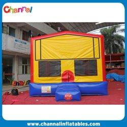 Großer, Großer, Rot Gelber Bounce House Basketball Hoop, Aufblasbarer Hüpfer