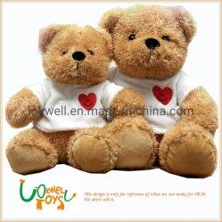 L'ours en peluche OEM Valentine Twoteddy Couple des jouets en peluche Sweet cadeau doux amant de poupée