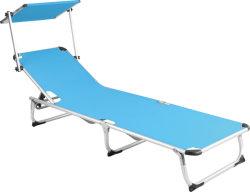 Venta de fábrica de logotipo personalizado más barato al aire libre Camping plegable ligero de la cama con Sun-Shade