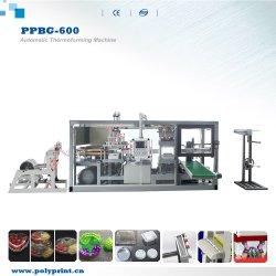 Полностью автоматическая биоразлагаемых пластмассовую крышку чашки PLA продовольственной контейнер поддон для яиц Автоматическое формирование горячее формование бумагоделательной машины
