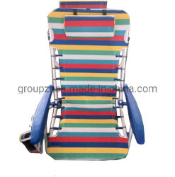 Bande de la porte de chaise de plage avec un oreiller, de l'accoudoir en plastique