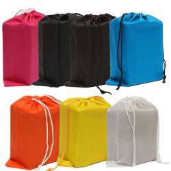 Venta directa de fábrica personalizado más populares de tejido sin tejer Bolsas Drawstring Wholesale Cuerda Zapata Nonwoven Bag