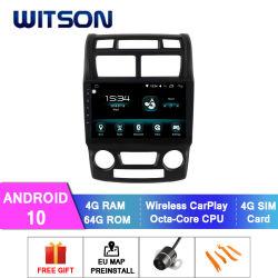 Automobile del giocatore di multimedia del Android 10 per il RAM automatico 2004-2010 di versione 4GB del condizionatore d'aria di KIA Sportage 64GB