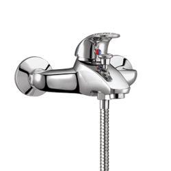 Laiton à levier unique Chrome Mitigeur baignoire douche monté au mur