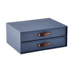 O Serviço de Design do pacote avançado conjunto de 2 bandejas de letra empilháveis Caixa de pacote da gaveta