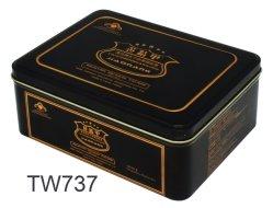 Tin Box para la Medicina, Embalaje, Material metálico rectángulo negro medicina tin box