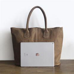 Usine de sac à main en cuir Cuir de vache simple gros Susen sacs sac fourre-tout de balle surdimensionnée pour les femmes avec pochette Emg6090