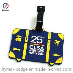 Preiswerte kundenspezifische Form-wasserdichte Gummiplastikarbeitsweg-Beutel-Namensmarken-Flugzeug-Gepäck-Marke für fördernde Geschenke