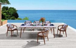 Grossiste en aluminium d'osier Woodlook Dinning Ensemble mobilier extérieur
