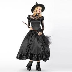 OEM-женщин черный костюм ведьм Хэллоуин костюмы