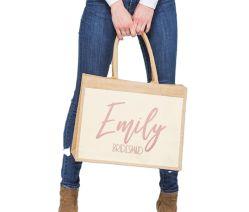 맞춤형 고급 선물 가방 - 테 브리드메이드 제안 선물 신부 샤워 비치 코튼 프론트 포켓 커스텀