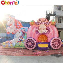 Schloss kombiniertes Chb900 der Einhorn-Prinzessin-Carriage Inflatable Bouncer Jumping