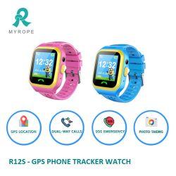 Sos d'appeler le GPS Tracker Mobile Téléphone cellulaire GSM Kids Smart montre-bracelet