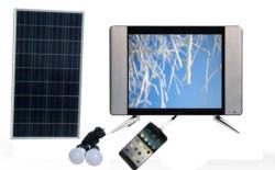 طاقة إيقاف التشغيل الطاقة الشمسية بجهد 12 فولت من التيار المستمر، تلفزيون DVB-T2 بحجم 15 بوصة مع مصدر البطارية منفذ VGA H-D-M-I USB