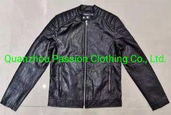 우연한 PU 가죽 재킷 남자 고전적인 지퍼 간결 기관자전차 재킷 가을 연약한 가죽 기본적인 외투