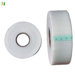 Fábrica de China Venta caliente Tejido de fibra de vidrio 5*5mm autoadhesiva de cinta de malla de fibra de vidrio de placa de yeso cinta mixta