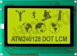 Branchealarm 240*128 grafische negatieve transmissive LCD-module met touchscreen Fabrikant