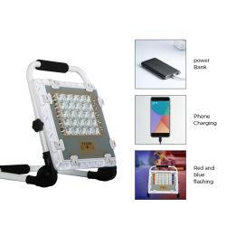 مصباح LED للطاقة الشمسية القابل لإعادة الشحن المحمول IP65 المقاوم لليناور