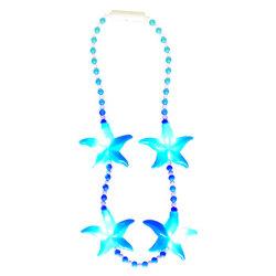 Kundenspezifische Raupe-Halskette Sommer-Karnevalblinkende der Starfish-LED